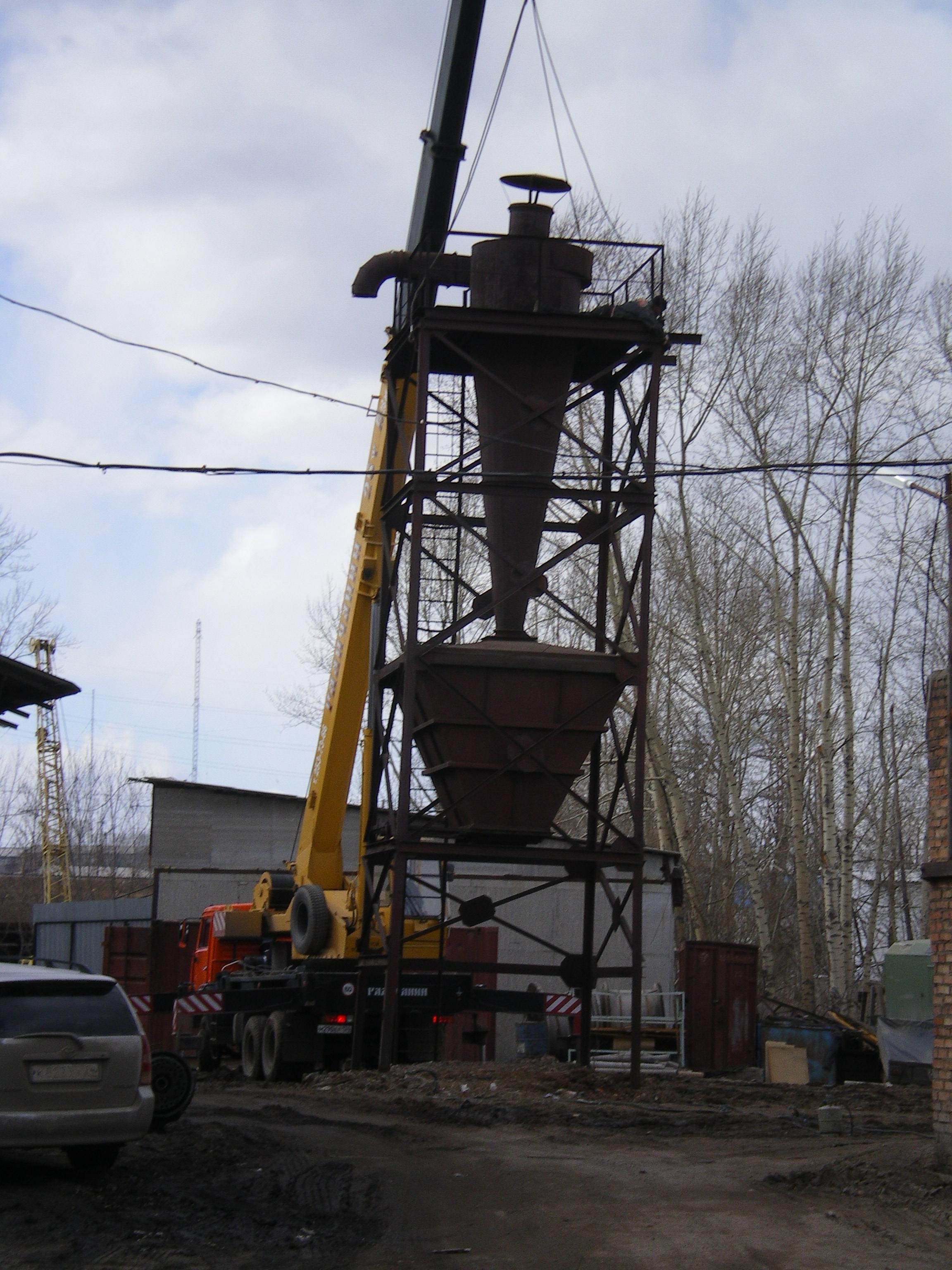 Система удаления опилок и стружки на столярном производстве